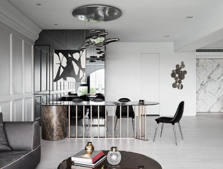 The Luxury Of Scenic Ballade  The Luxury Of Scenic Ballade Scenic Ballade A Luxury Apartment By Hao Design 3 740x560 dining tables & chairs Home page Scenic Ballade A Luxury Apartment By Hao Design 3 740x560