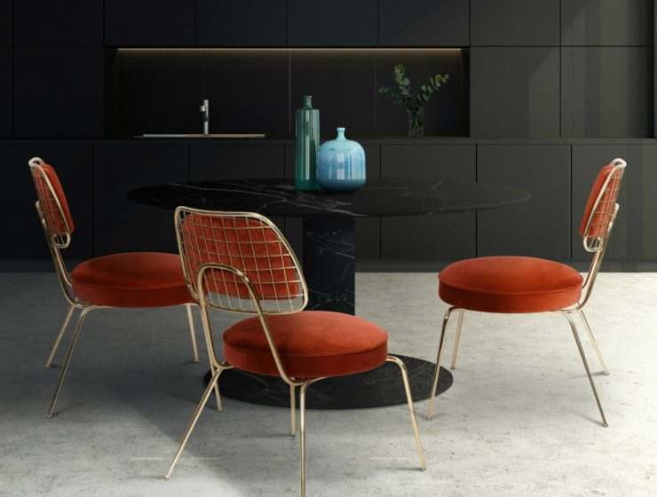 upholstery dining chairs Upholstery Dining Chairs For A Glamorous Dining Room featured 3 740x560