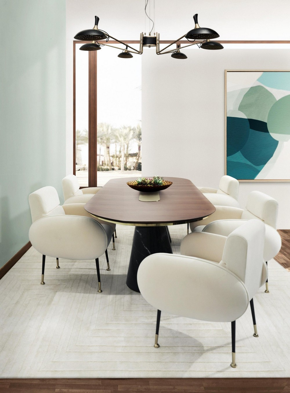 Art Deco Retro Vibe: The Dining Tables dining tables Art Deco Retro Vibe: The Dining Tables bertoia