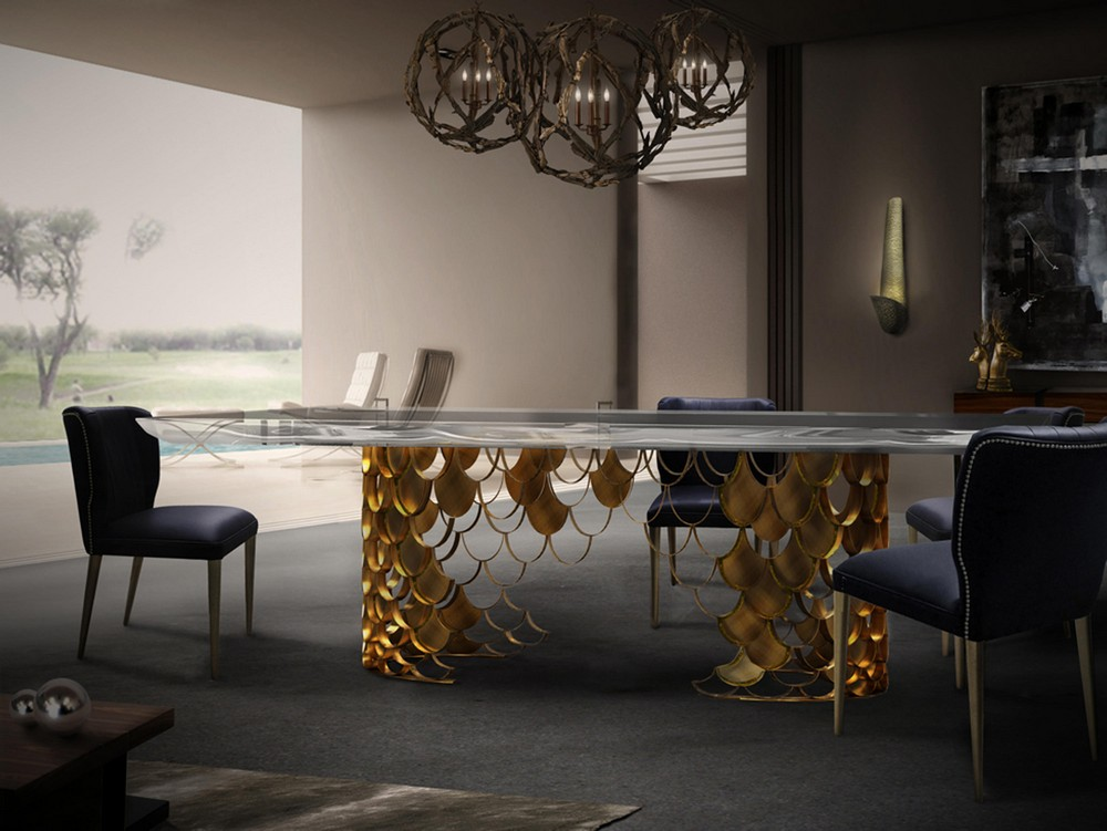 Mellow Color Metallics: The Dining Tables dining tables Mellow Color Metallics: The Dining Tables koi2