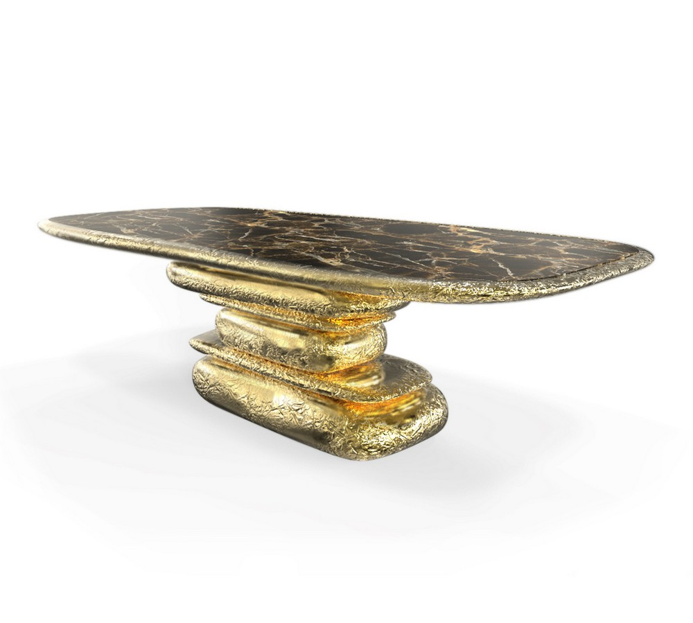 Mellow Color Metallics: The Dining Tables dining tables Mellow Color Metallics: The Dining Tables stonehenge