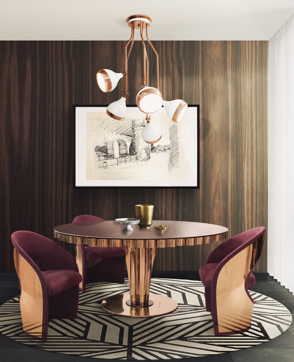 Art Deco Retro Vibe: The Dining Tables dining tables Art Deco Retro Vibe: The Dining Tables wormley