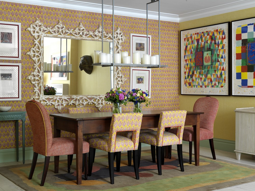 A Mishmash of Playful Patterns: Dining Rooms by Kit Kemp kit kemp A Mishmash of Playful Patterns: Dining Rooms by Kit Kemp 1 Kit Kemp