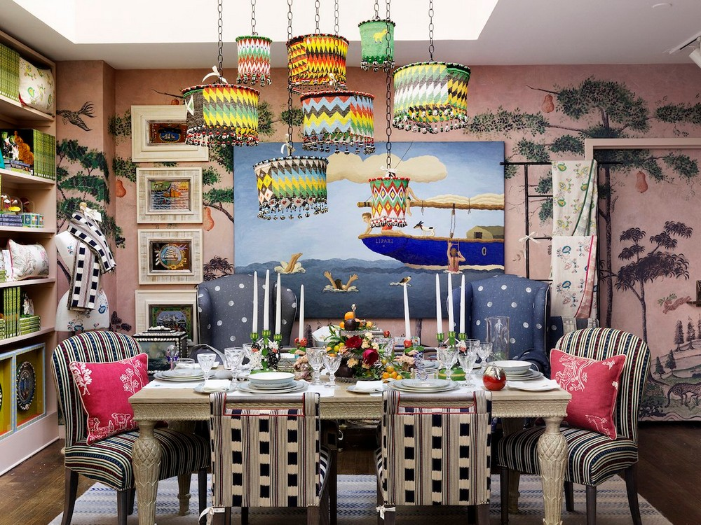 A Mishmash of Playful Patterns: Dining Rooms by Kit Kemp kit kemp A Mishmash of Playful Patterns: Dining Rooms by Kit Kemp 2 twitter
