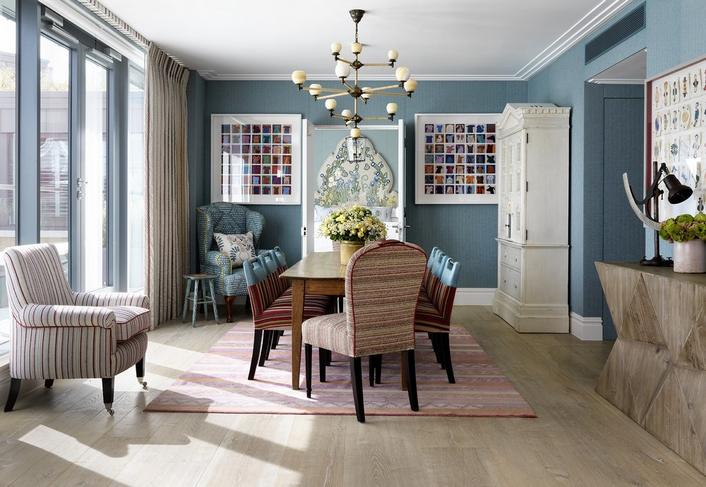 A Mishmash of Playful Patterns: Dining Rooms by Kit Kemp kit kemp A Mishmash of Playful Patterns: Dining Rooms by Kit Kemp 3 kit kewmp 1