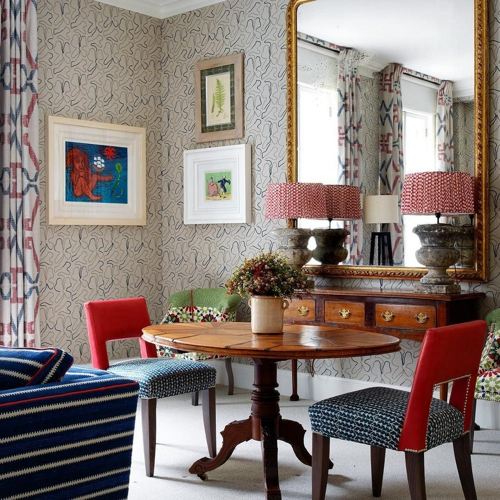A Mishmash of Playful Patterns: Dining Rooms by Kit Kemp kit kemp A Mishmash of Playful Patterns: Dining Rooms by Kit Kemp 4 pinterest