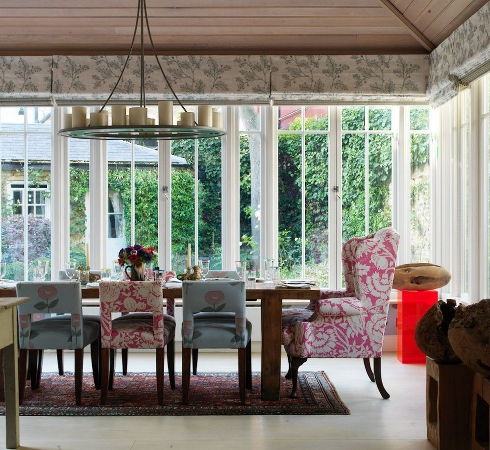 A Mishmash of Playful Patterns: Dining Rooms by Kit Kemp kit kemp A Mishmash of Playful Patterns: Dining Rooms by Kit Kemp 5 pinterest 1