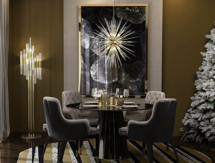 Luxury Design: Awesome Dining Room Ideas For Christmas dining room ideas Luxury Design: Awesome Dining Room Ideas For Christmas featurwed 740x560
