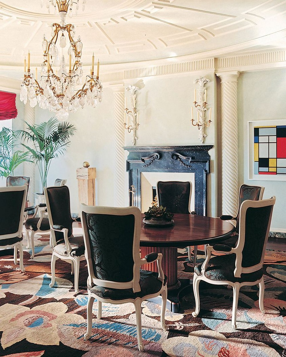 Traditional Meets Contemporary: Dining Rooms by Jacques Grange jacques grange Traditional Meets Contemporary: Dining Rooms by Jacques Grange 2 pinterest 1