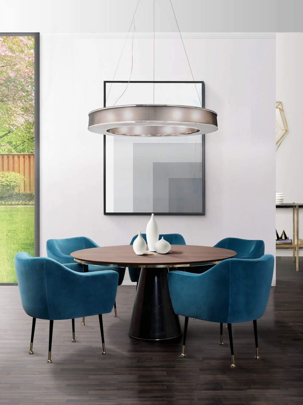 Pantone's Classic Blue: 5 Trendy Dining Room Ideas dining room ideas Pantone's Classic Blue: 5 Trendy Dining Room Ideas charlotte