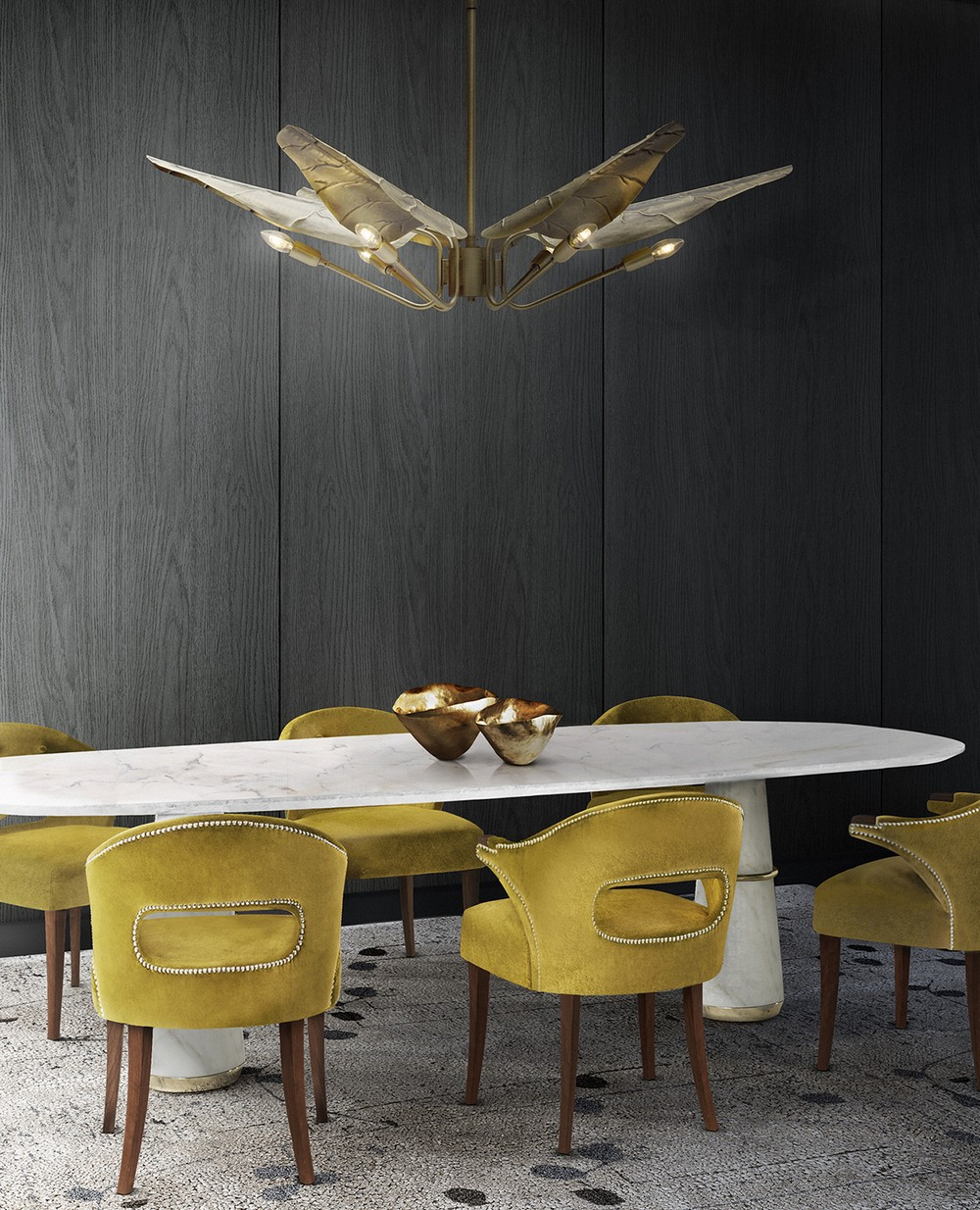 7 Dining Room Chandeliers That Will Spark A Luxury Atmosphere dining room chandeliers 7 Dining Room Chandeliers That Will Spark A Luxury Atmosphere 137 agra dining 2 calla suspension New piecesmini