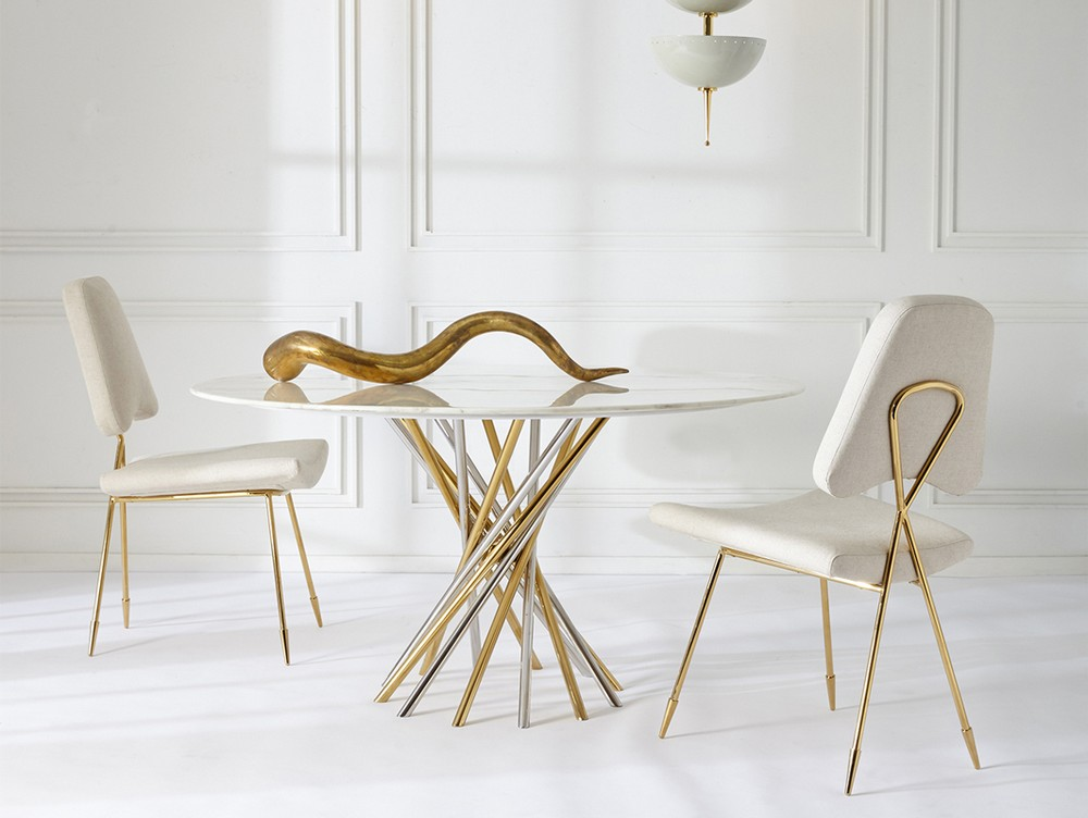 Modern Dining Tables by Jonathan Adler jonathan adler Modern Dining Tables by Jonathan Adler electrum candelabra