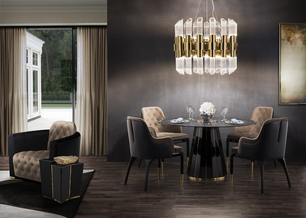 Interior Design Trends To Refine Your Dining Room in 2020 interior design trends Interior Design Trends To Refine Your Dining Room in 2020 mellow metallics2