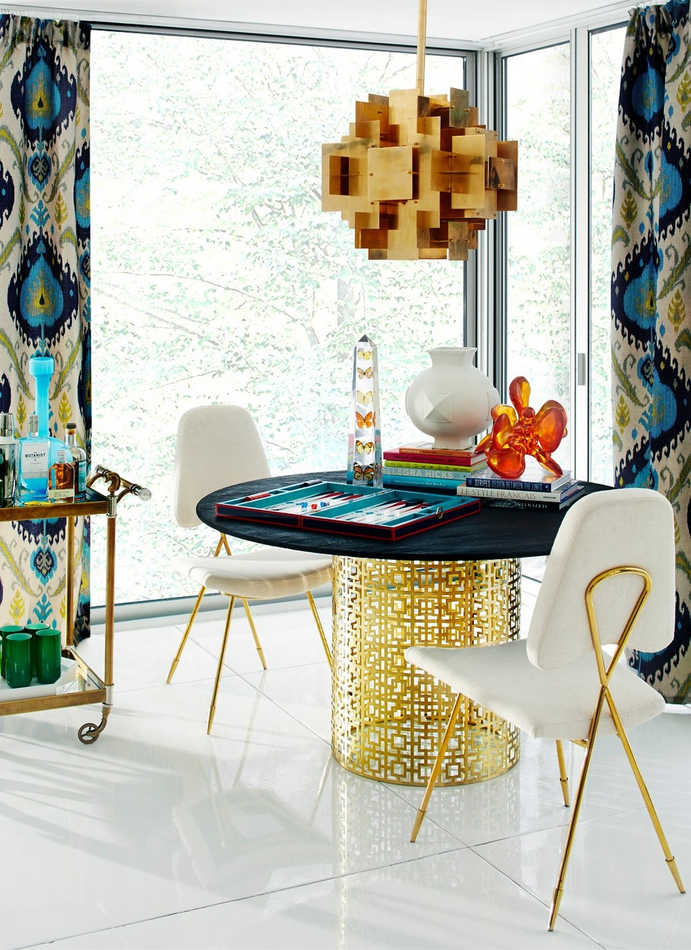 Modern Dining Tables by Jonathan Adler jonathan adler Modern Dining Tables by Jonathan Adler nixon mad about the house