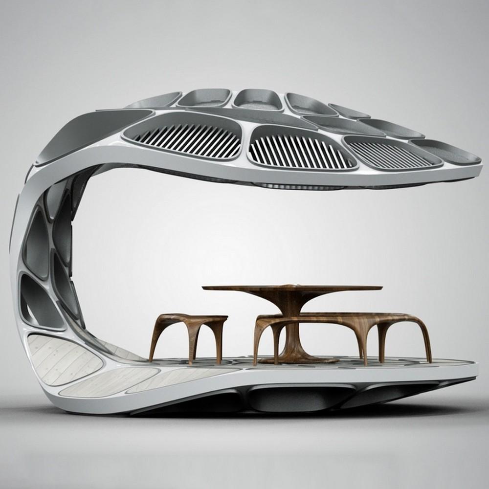 Zaha Hadid's Most Unique Dining Table Ideas zaha hadid Zaha Hadid's Most Unique Dining Table Ideas volu dining pavilion design miami 2015